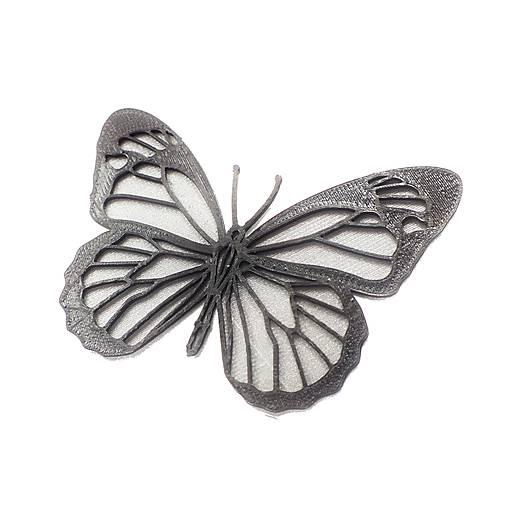 Motýľ silver/black