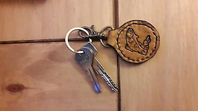 Kľúčenky - Kožená kľúčenka pstruh - 10479017_