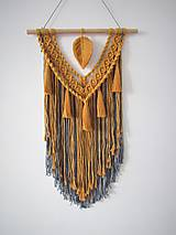 Dekorácie - Makramé závesná dekorácia INDIE - 10481401_