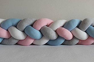 Detské doplnky - Zapletanec Štvorkáč BABY, rôzne farby, dĺžka 50-500cm - 10480321_