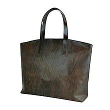 Kabelky - Kožená kabelka SHOPPER BAG ručne farbená lakovaná useň - 10481386_