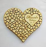 Tabuľky - Drevené srdce - 10480034_