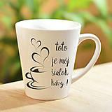Nádoby - Hrnček Latte malý-kava - 10481299_