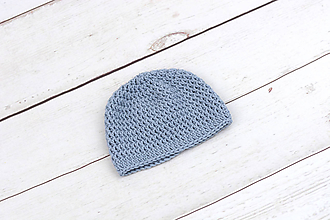 Detské čiapky - Modrá čiapka EXTRA FINE - 10480174_