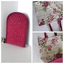 Nákupné tašky - Rozkvitnutá nákupka skladacia s pevným dnom - 10479160_