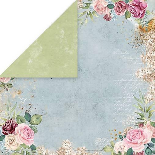 Flower Vibes 01 - scrapbook papier 12x12 inch