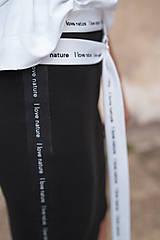 Sukne - Čierna úzka sukňa s lampasmi BLACK & WHITE COLLECTION - 10481865_