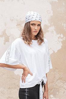 Tričká - Boxy tričko z organickej bavlny BLACK & WHITE COLLECTION - 10481760_