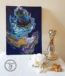 Obrazy - Krása v modrom 1 - 10479393_