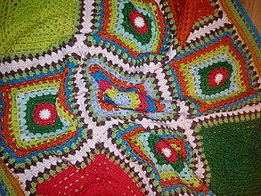 Úžitkový textil - retro deka - 10480696_