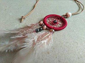 Náhrdelníky - Lapač snov Rubinrot - 10482176_