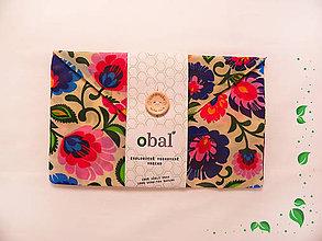 Úžitkový textil - Voskované vrecko s gombíkom - Kvety - 10481577_