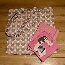 Nákupné tašky - Zero waste taška - malá (Srdiečka) - 10481731_