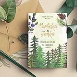 Svadobné oznámenie pre Lesnú vílu