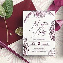 Papiernictvo - Svadobné oznámenie Henna - 10481635_