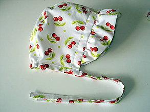 Detské čiapky - čepček čerešničky - 10479587_
