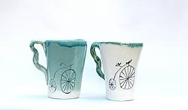 Nádoby - šálka XXl s bicyklom - 10480116_