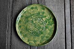 Keramický tanier čipkovaný