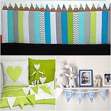 Úžitkový textil - Modro-zelená izbička na objednávku - 10479823_