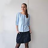 Topy - Tenká šedá linie (pudre blue) - 10482085_