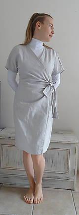 Šaty - Ľanové šaty - 10478946_