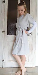 Šaty - Ľanové šaty - 10478949_