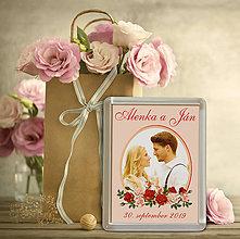 Darčeky pre svadobčanov - Svadobná magnetka s Vašou fotografiou - 10483172_