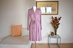 Šaty - Zavinovací úpletové šaty APRIL, jemně růžová - 10484057_