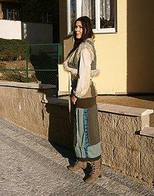 Sukne - lel set,bohemian sukňa a vesta - 10484898_