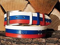 Opasky - Kožený opasok - Slováčisko - 10486300_
