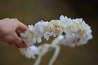 Ozdoby do vlasov - Prvé sväté prijímanie... neha bielych ruží - 10484006_