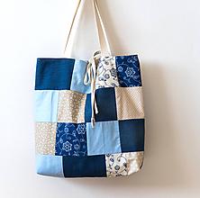 Veľké tašky - patchworková taška - 10485686_