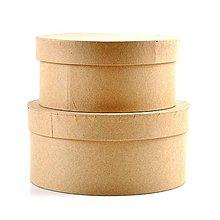 Polotovary - Kartónová krabica, okrúhla, sada 2 ks (17,5 a 20 cm) - 10483145_