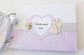Papiernictvo - svadobná kniha hostí - 10483536_