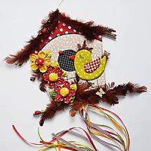 Dekorácie - Veľká veľkonočná dekorácia / vtáčia búdka veľká - 10483963_