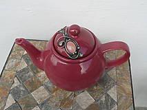 Nádoby - Porcelánová kanvica s ruženínom - 10486160_