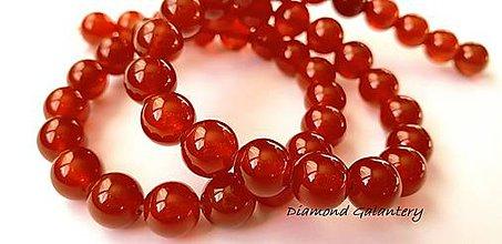 Korálky - Achátové korálky červené - 8 mm - 10484870_