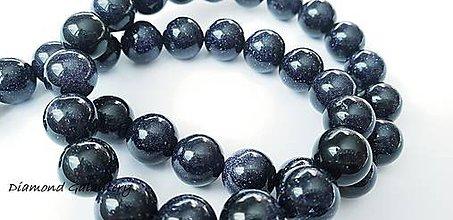Korálky - Pieskovcové korálky s perleťou- 10 mm - čierne - čierne - 10485831_