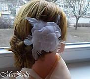 Ozdoby do vlasov - svadobná spona do vlasov - 10485151_