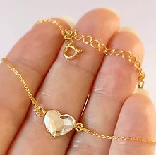 Náramky - Zlatý náramok srdce - 10484933_