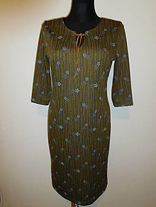 Šaty - Khaki zelené - 10485332_