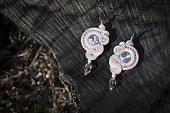 Princezná šujtaška pre nevestu - soutache earring