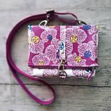 Kabelky - DINKY bag - ružovo biela potlač, pozitív - negatív - 10485256_