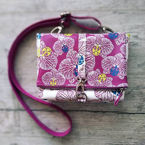 DINKY bag - ružovo biela potlač, pozitív - negatív