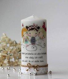 Svietidlá a sviečky - Dekoračná sviečka pre priateľky - 10482768_