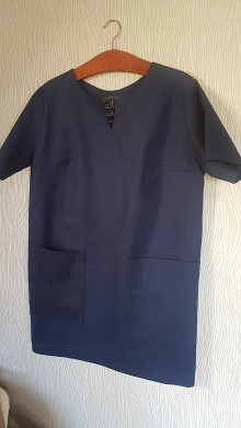 Šaty - Ľanové šaty... - 10483134_