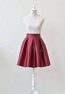 Sukne - KRÁTKA skladaná sukňa - 10484288_