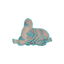Odznaky/Brošne - Koala silver/turqouise blue - 10482899_