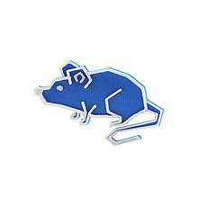 Odznaky/Brošne - Myš nobble blue/silver - 10483009_