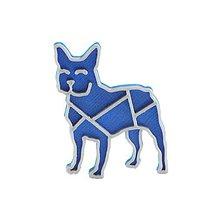 Odznaky/Brošne - Bulldog nobble blue/silver - 10484659_